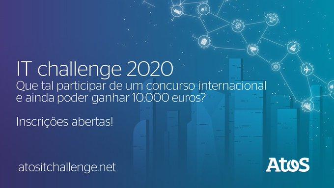 Estudantes, já se inscreveram no IT Challenge 2020? Montem suas equipes e enviem suas...