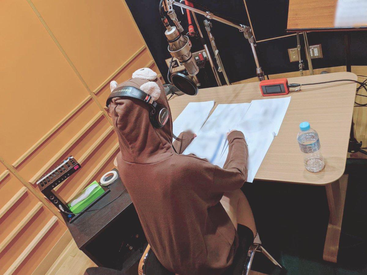 レコーディングが終わった後は声の収録でした!喉をたくさん使った1日だった…(*´꒳`*)早くお知らせしたいな〜!!
