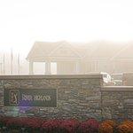 Image for the Tweet beginning: Just beyond that morning fog