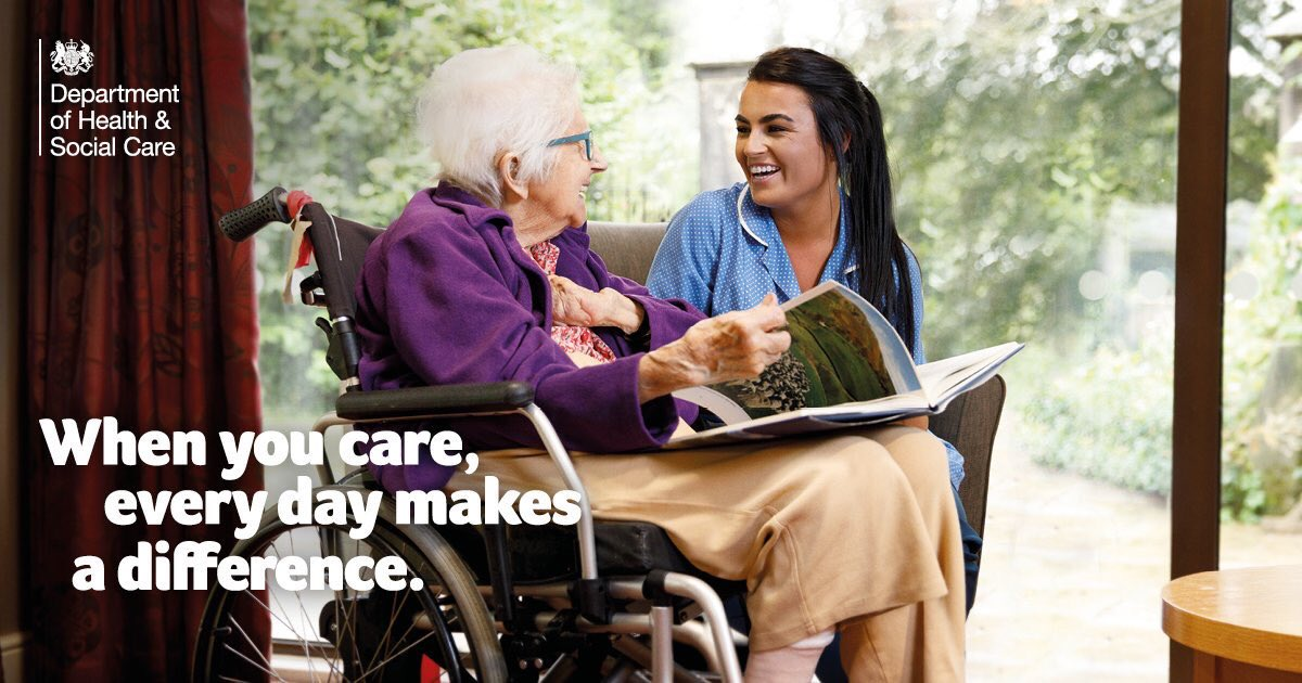 test Twitter Media - Could you make a difference?   Find out more about jobs in care https://t.co/lB4UjrKpNG #everydaymakesadifference @DHSCgovuk https://t.co/7maLvyS9ly