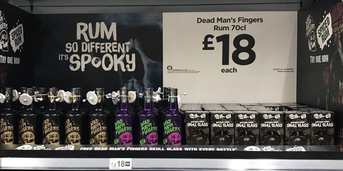 DEAD MANS FINGERS RUM SKULL GLASS BRAND NEW