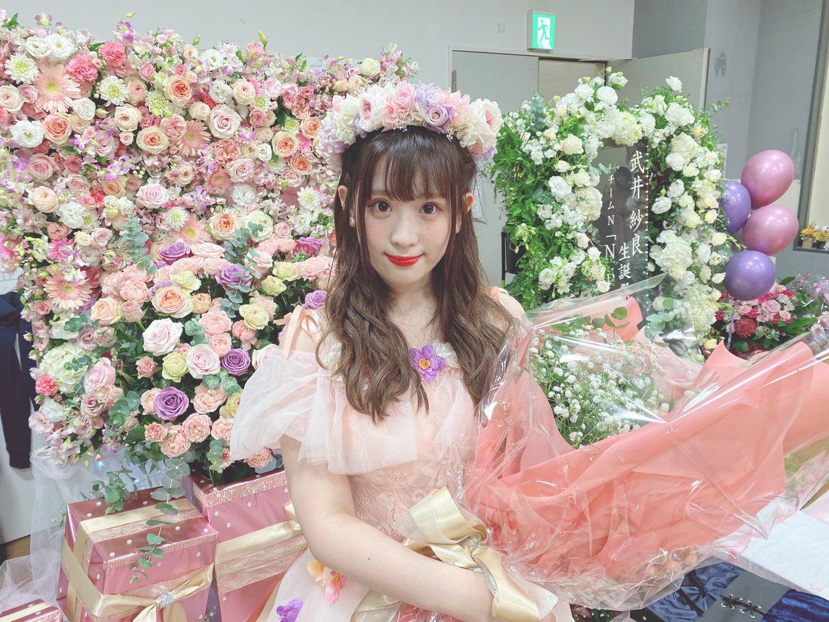 16日(水)『N Pride』#武井紗良  生誕祭&卒業公演アイドル王、パンシェルジュへの道と様々な企画で皆を楽しませてくれた武井。不器用ながらも一生懸命活動した6年間、多くのファンやメンバーに愛された彼女はNMB48の天使です!これからもさらっと笑顔のさららんでいてくださいね。卒業おめでとう!