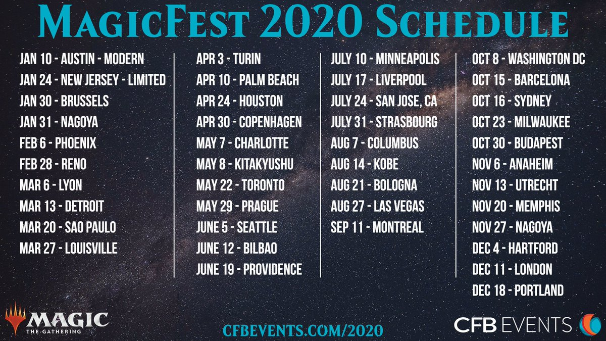 Portland Events June 2020.Cfb Events On Twitter Our Schedule For 2020 Magicfests Is