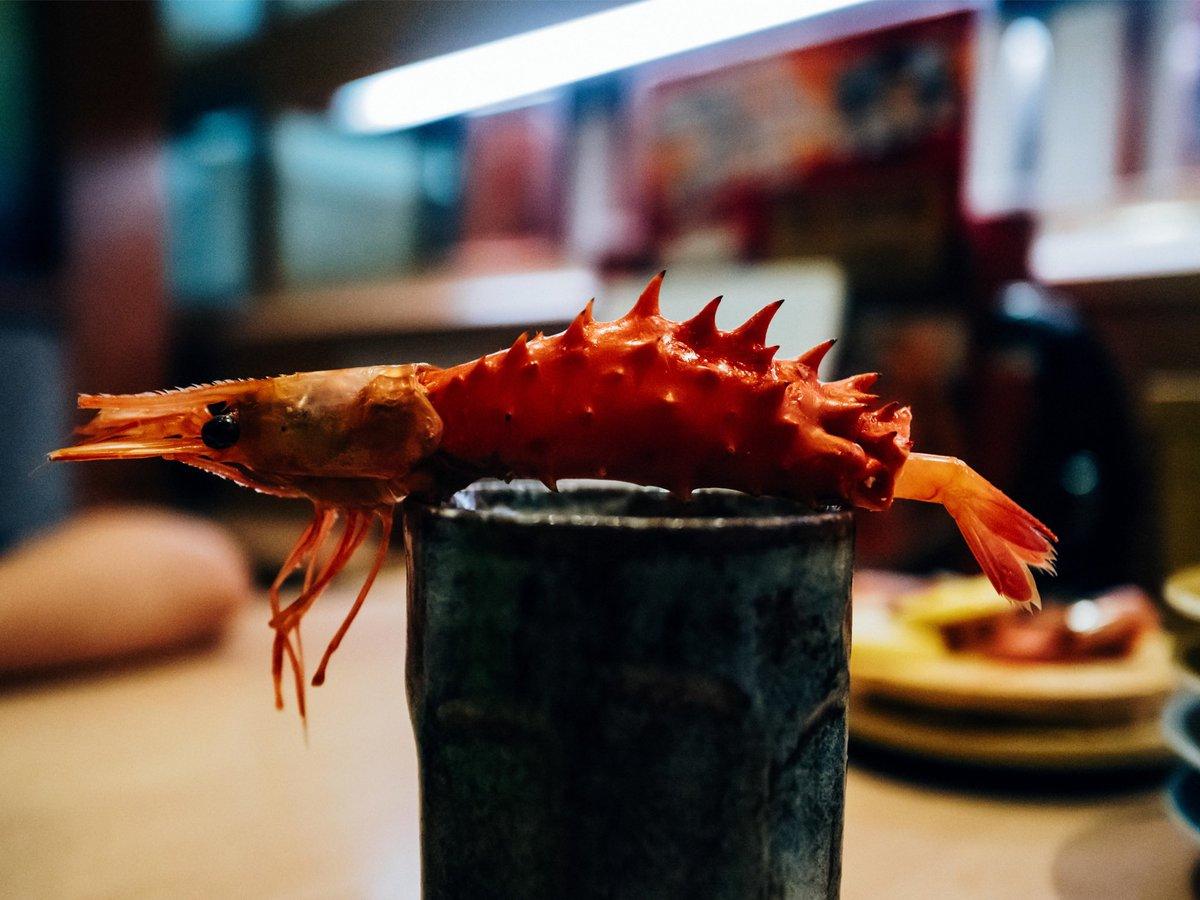 回転寿司で妻がカニ汁、息子が甘エビを注文したので、ぼくはエビカニをつくって遊んでいた。「おとーさん、あそんでないでちゃんとたべて。」と息子に諭された。ごもっともだ。