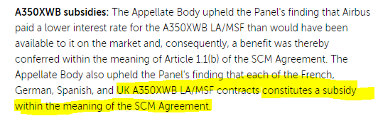 @john30296891 @PallecPaluch @LeaveEUOfficial you do know that the UK gave Airbus WTO illegal subsidies? The announcement specified both Scotch and Irish