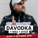 Image for the Tweet beginning: [CONCERT] Davodka + MGZ 101 +