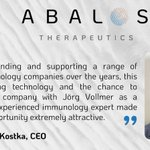 Image for the Tweet beginning: Congratulations to Abalos Therapeutics on