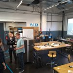 Image for the Tweet beginning: visiting #werkstättewattens #fablab with #urbanmobilitylabs