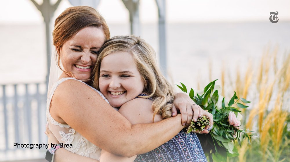 Sarah Aiken and Kinley Strohl, a young girl who needed Ms. Aiken's bone marrow, had never met in person. A wedding quickly became an even bigger celebration of new beginnings https://nyti.ms/2nN7wUP