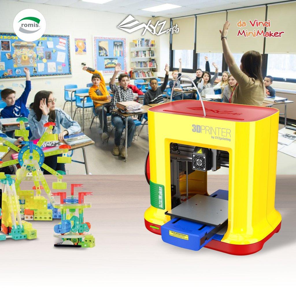 Alimenta la experimentación y la innovación en los niños. Impresora 3D Da Vinci Mini Maker para pequeños inventores, con grandes sueños. Disponible en Romis