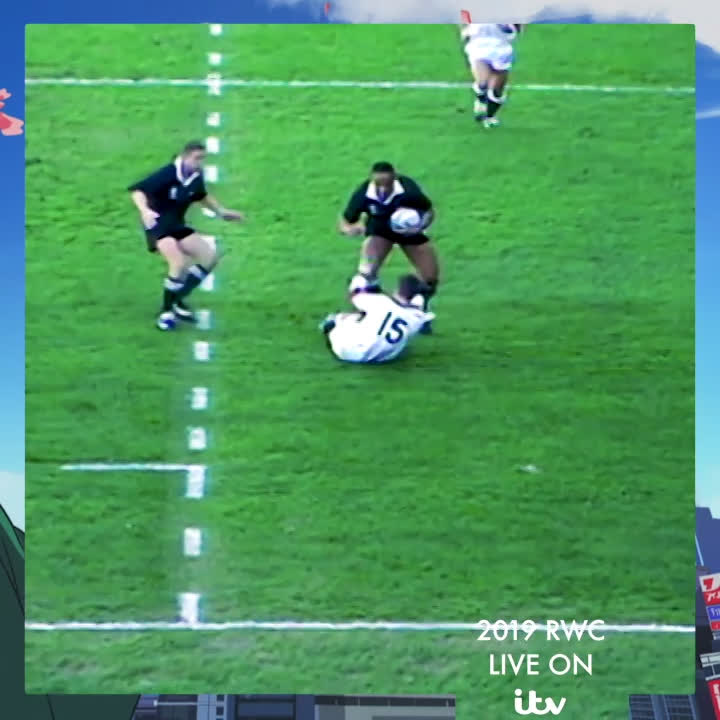 The first rugby superstar! Relive Jonah Lomus devasting 1995 campaign #RWC2019 #ITVRugby