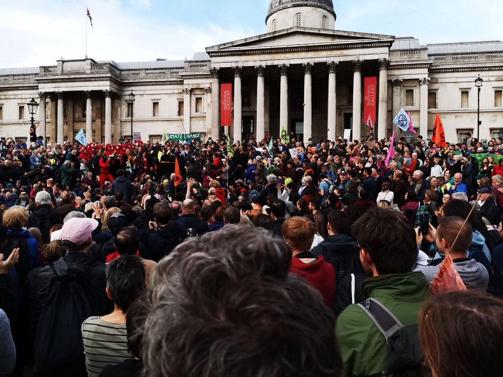 Arrests being made of peaceful protestors right now in London, are a symbol of the desperation of a dying economic system, a capitalist model that has run its course. We all have the power to make a new world possible. Solidarity to those people. #systemchange not #climatechange