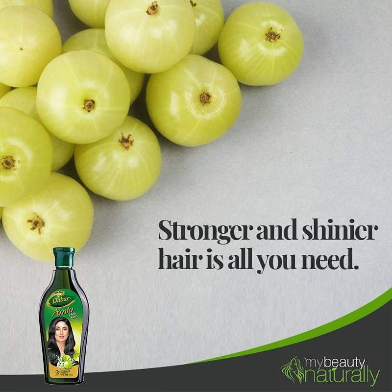 Since ancient times, Amla has been the super food for hair. Dabur Amla Hair Oil prevents hair-fall and brings back the natural shine by providing the much-needed vitamins. #DaburAmla #hairoil #haircare #champi #stronghair #longhair #beauty #haircareroutine #amla #nature #natural