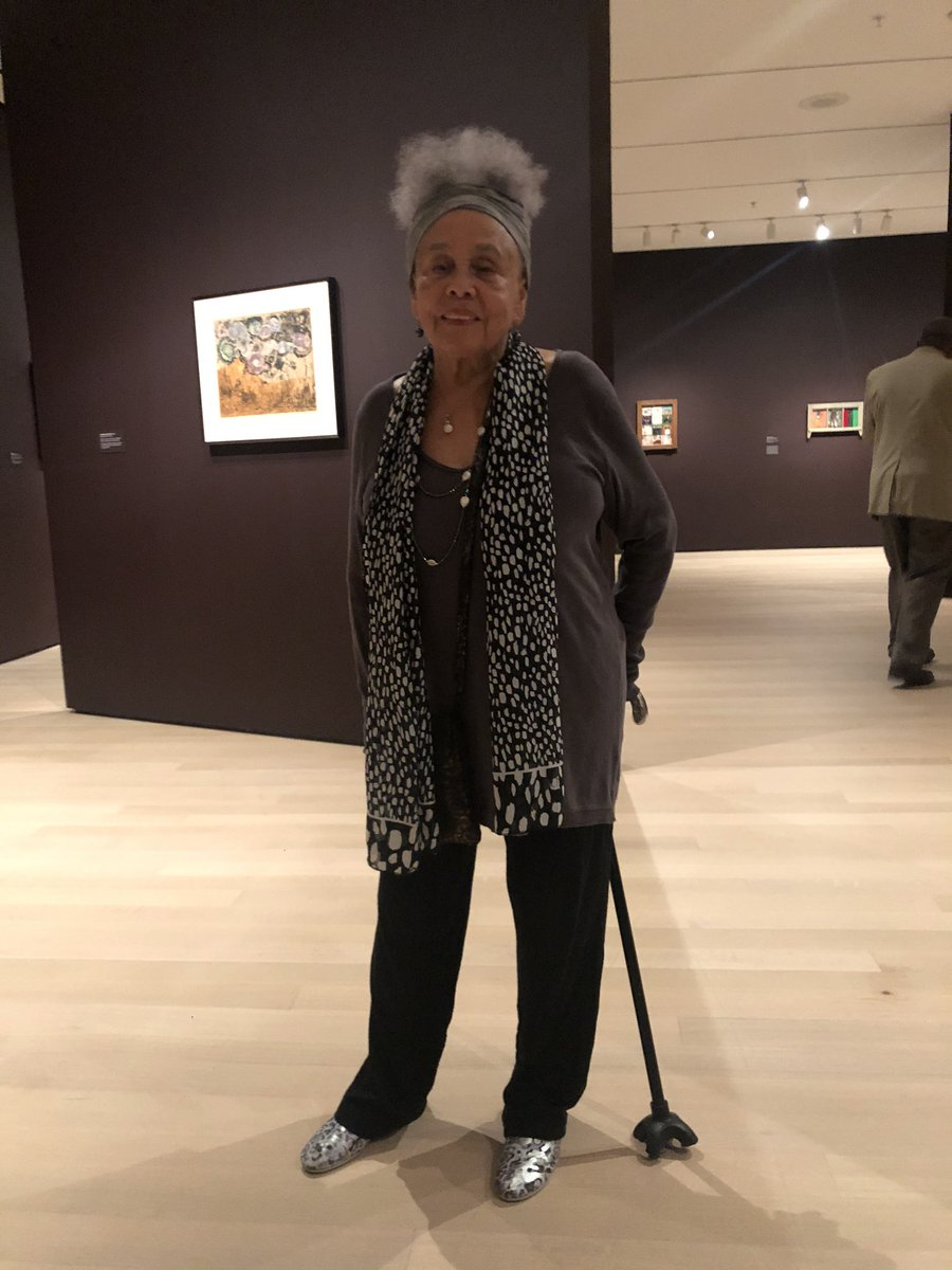 "Met Betye Saar last night while she was walking around her new show at MoMA. It's a quiet show and I wish it would of been a major retrospective. She's 93 and it's her first solo show at the museum. I thanked her and said, ""it took 'em long enough."" She just laughed. https://t.co/I3cVQwoaJc"