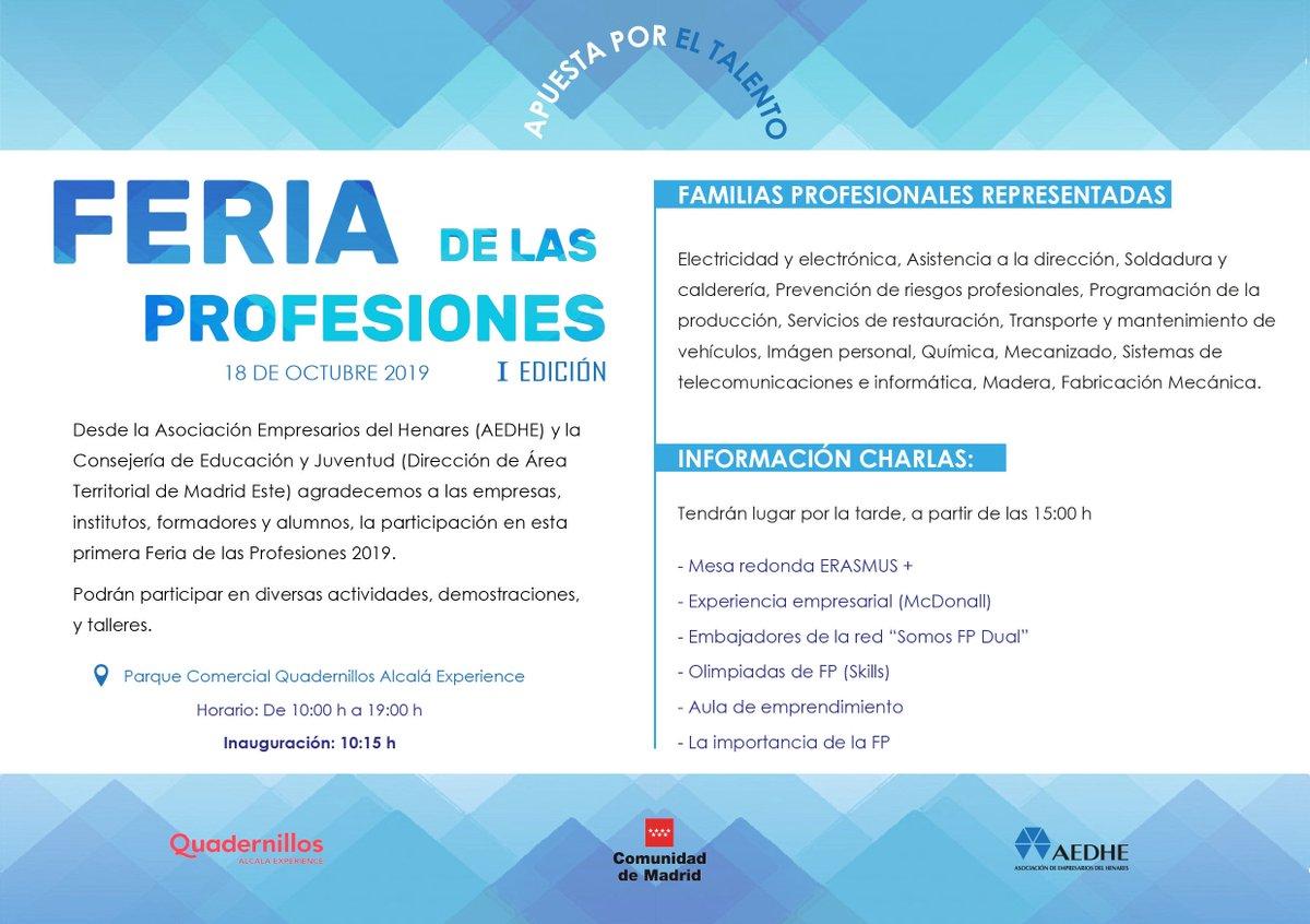 Quadernillos Acoge Mañana La Feria De Las Profesiones Del