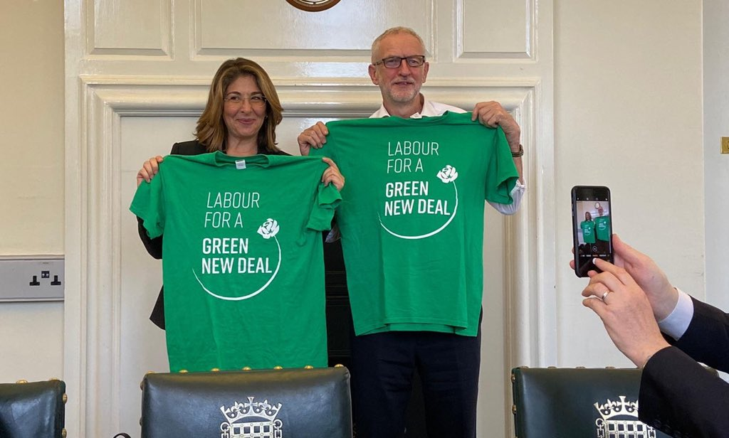 It's only @jeremycorbyn and @NaomiAKlein with our t-shirts 😍 Get yours here 👉 labourgnd.uk/merch/tee
