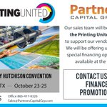 Image for the Tweet beginning: @PartCapGrp will be attending @printingunited