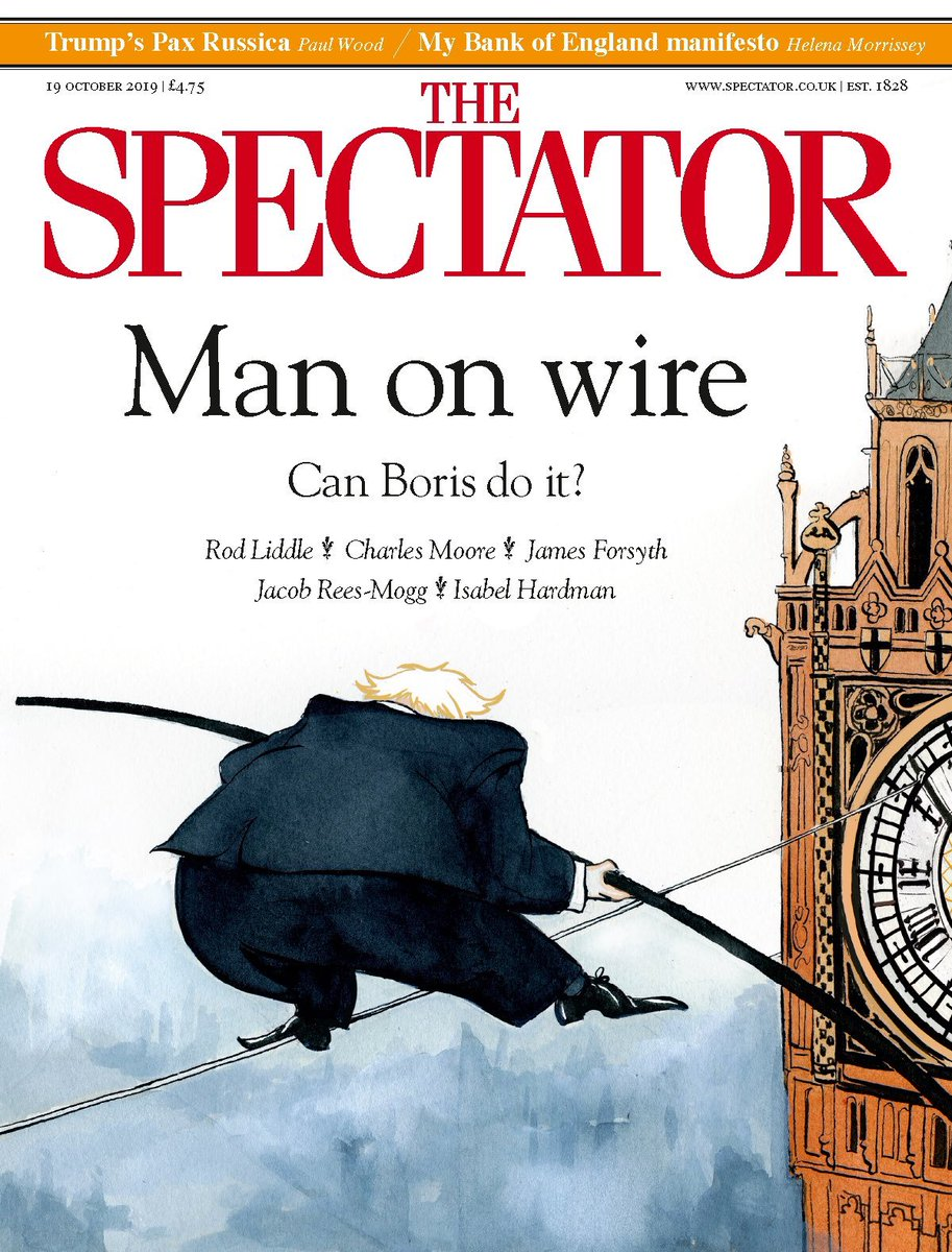 Man on wire. This weeks @spectator cover