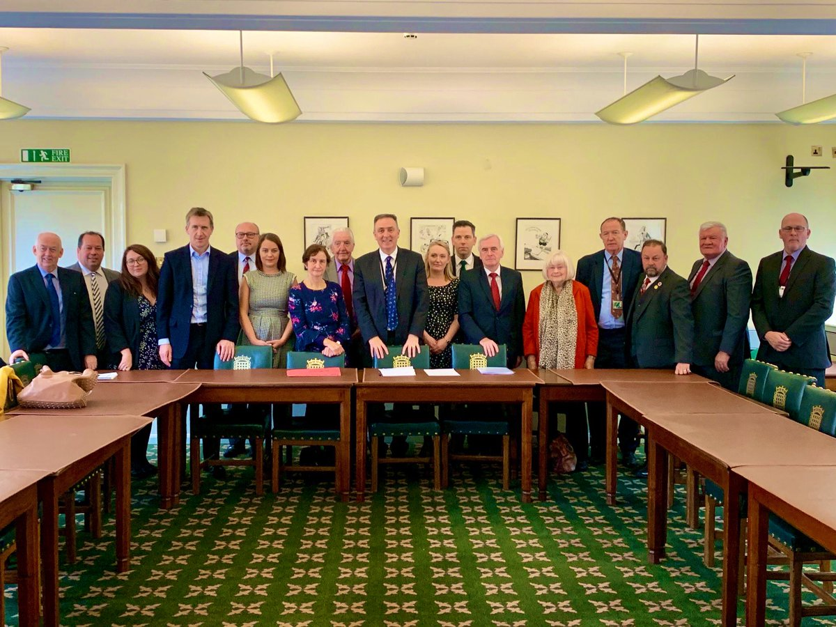 Positive meeting with the NUM, pension trustees & shadow chancellor @johnmcdonnellMP about what Labour can do to reform the mineworkers pension surplus sharing arrangement & get a fairer deal to support retired miners & their families.