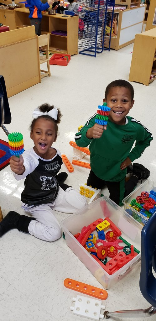 These creative students made lollipops with manipulatives. Great work! #WhateverItTakes