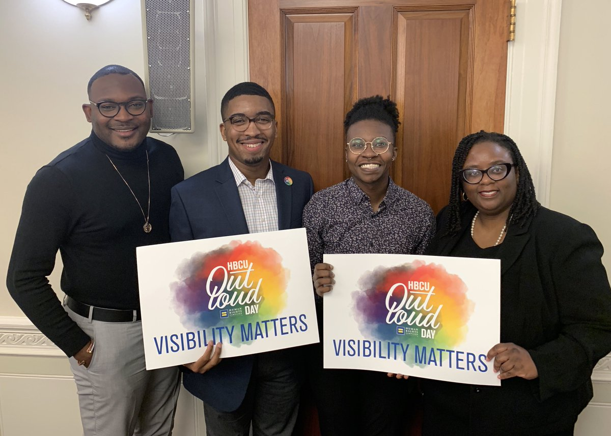 In partnership with the bipartisan @HBCUCaucus and the @LGBTEqCaucus this #HBCUOutLoud Day, @HRC hosted a discussion on the ways Congress can partner with HBCUs to support LGBTQ diversity and inclusion efforts on campuses. hrc.org/blog/hrc-found…