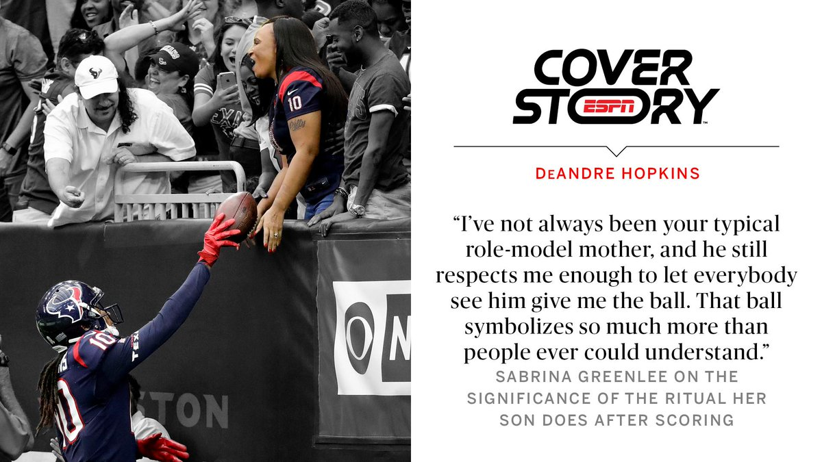 DeAndre Hopkins' mom can't see him, but he still sees her – and he wants the world to see her too. https://es.pn/31jWmVr