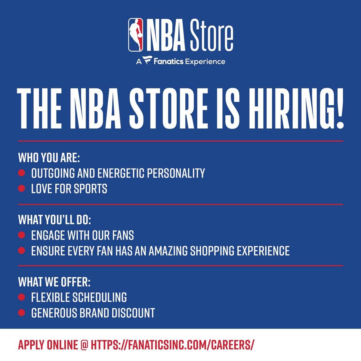 We are hiring! Apply Online @ fanaticsinc.com/careers/