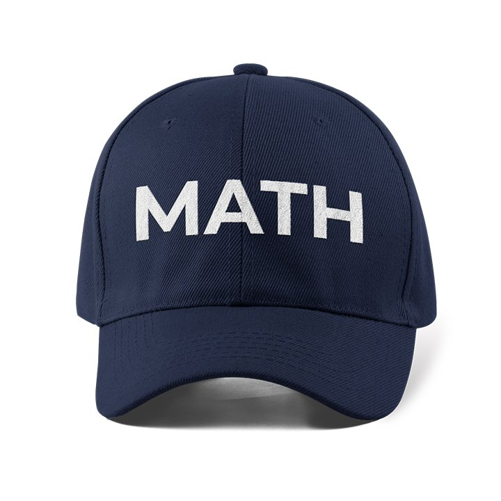 """TIL: Those """"MATH"""" hats are for @AndrewYang, not because people in Seattle just really like math. (It's an acronym: Make America Think Harder)"""