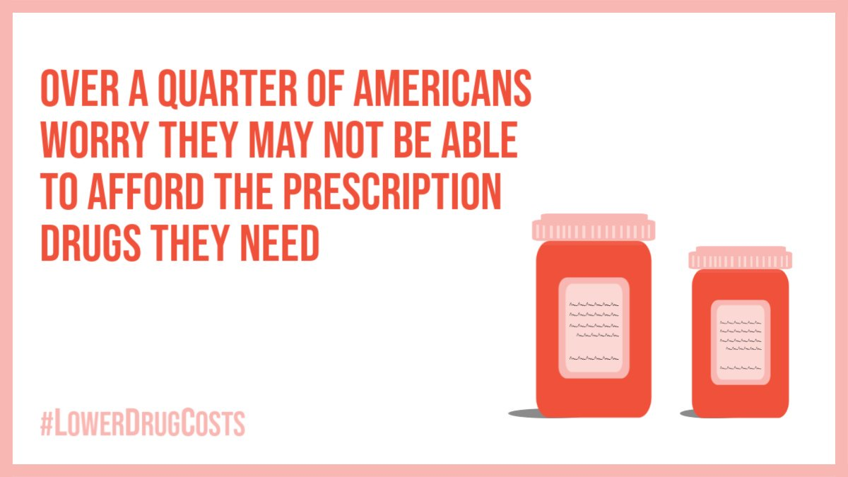 Bottom line: you shouldn't have to choose between paying your monthly bills and paying for your prescription drugs. It's really that simple. #LowerDrugCosts