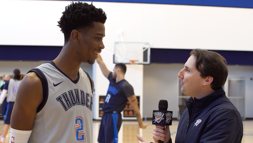1-on-1 with SGA  Stream Thunder v. Grizzlies tonight at 7pm on the Thunder Mobile App 📲