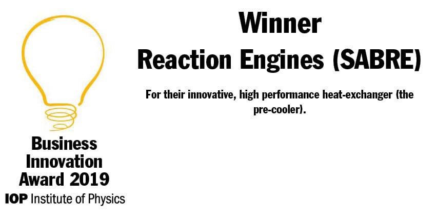 Congratulations to the team @ReactionEngines, one of the four out of five #IOPBusiness Innovation Awards winners to have had Innovate UK funding. @UKRI_News