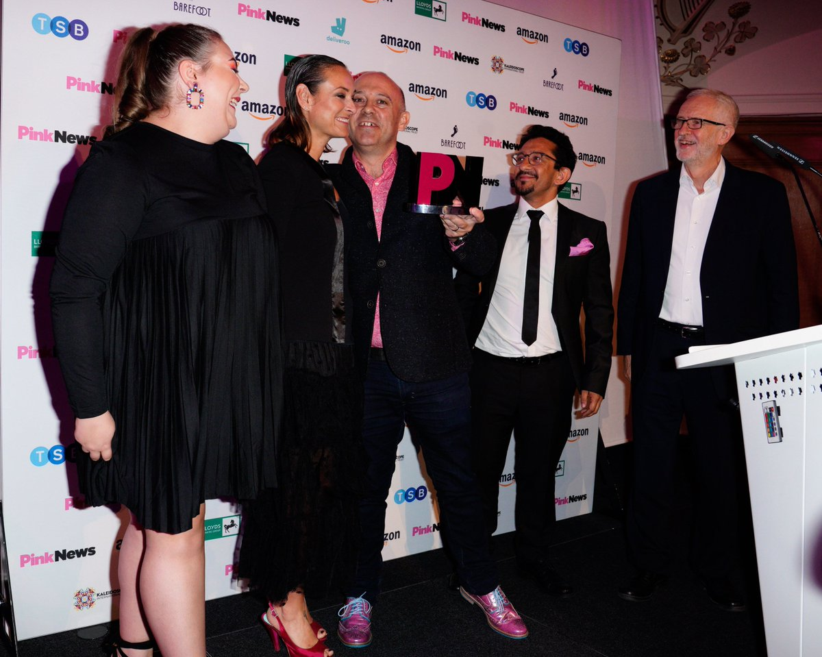 An absolute honour to present @BBCEastenders with the @PinkNews Best Drama Award tonight for their Pride episode back in July. Drama has a unique ability to educate and to address important social issues in a popular way. And thats exactly what one of my favourite shows has done