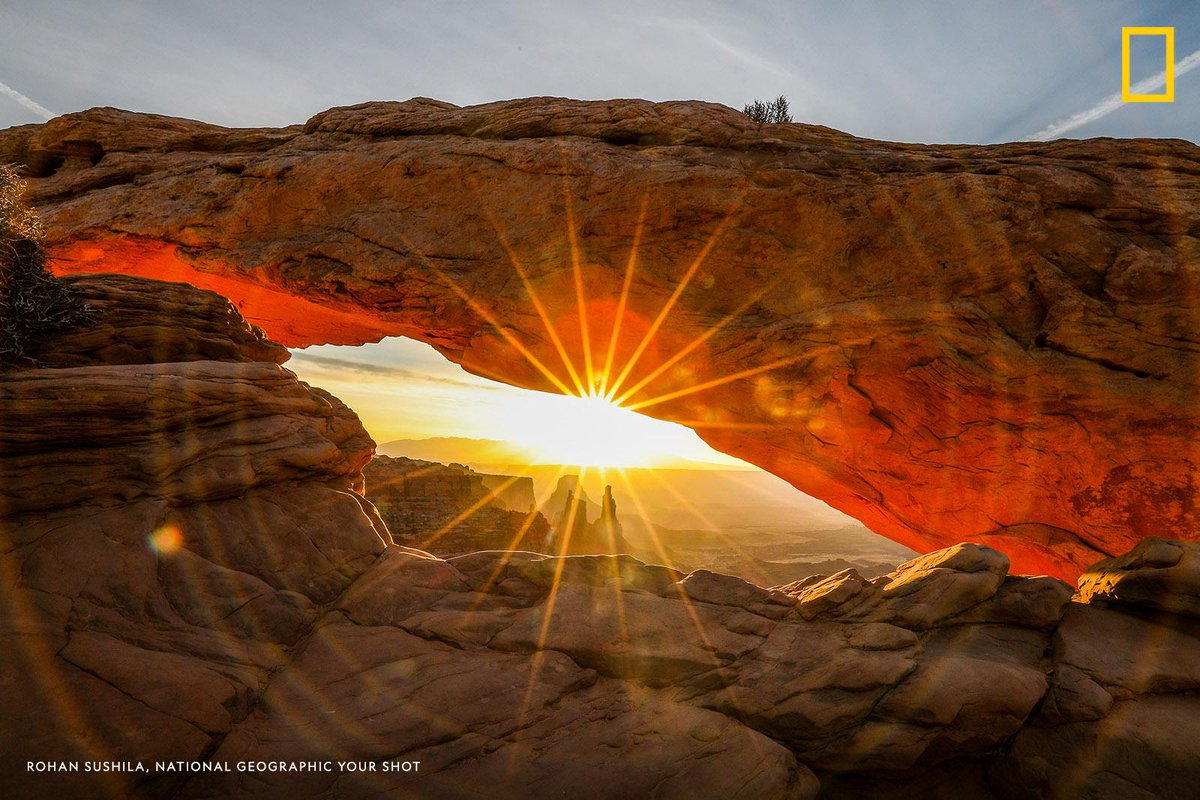 """Mesa Arch is famous for it's beautiful sunrise and I didn't want to miss this moment,"" writes Your Shot photographer Rohan Sushila, who captured this inspiring scene in Canyonlands National Park, Utah."