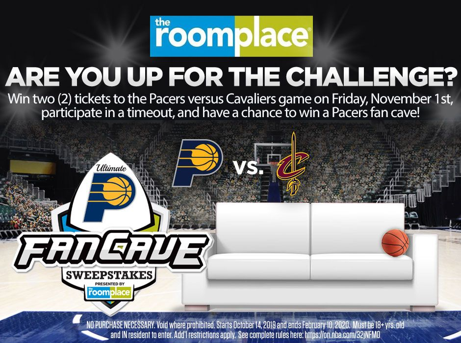 The Pacers Ultimate Fan Cave Sweepstakes presented by @theroomplace is back! You could win two tickets to Pacers vs. Cavs and be in the running to win the Ultimate Pacers Fan Cave  😍   Enter now at  ➡️  http://on.nba.com/2MPawIG    #Sweepstakes