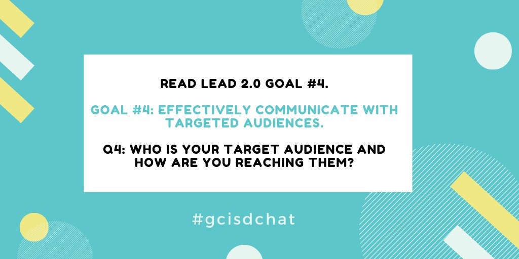 Q4: #gcisdchat