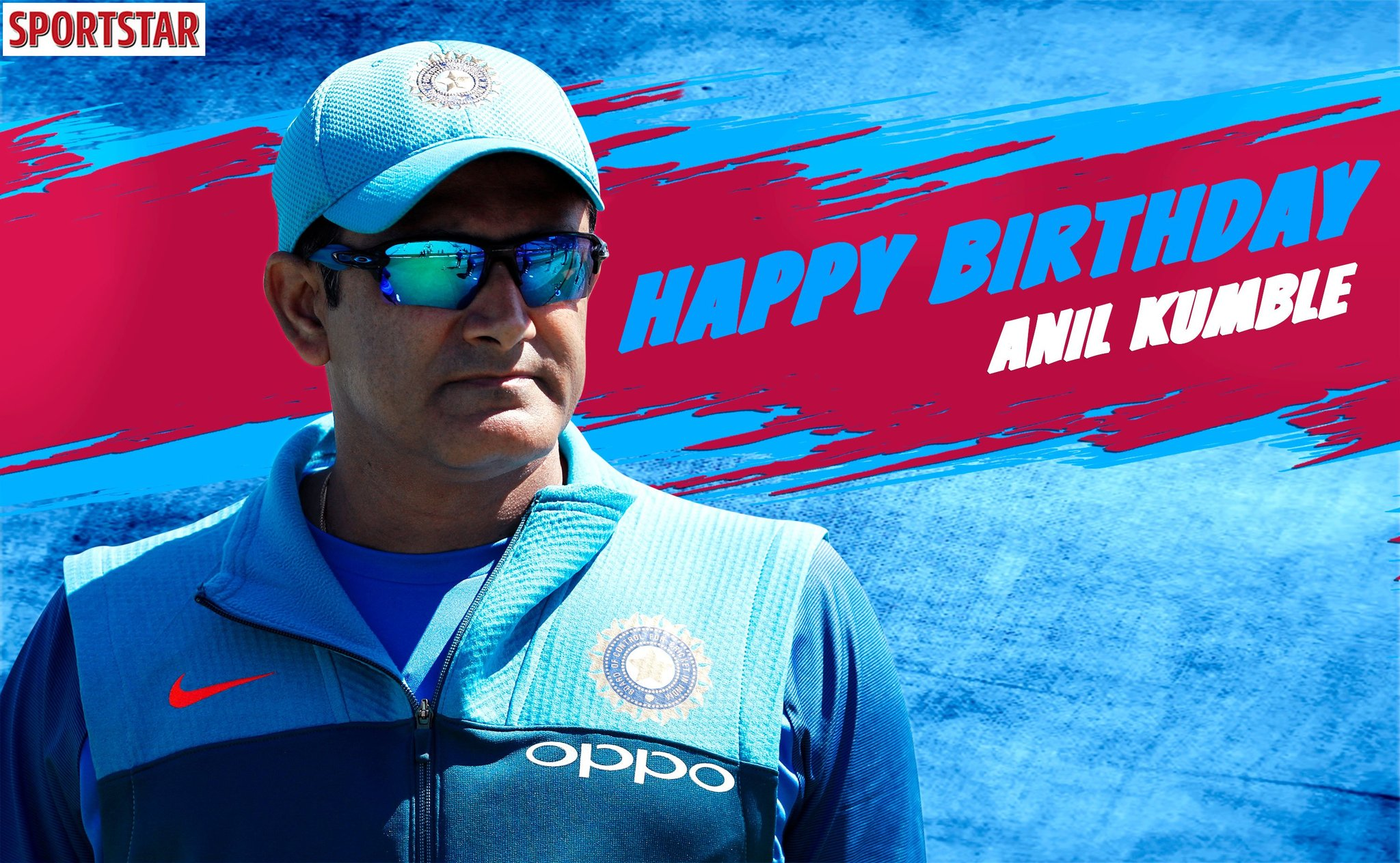 4  0 3  International Appearances.  6  1  9  Test Wickets.  3  3  7  ODI Wickets.   Happy Birthday Anil Kumble!