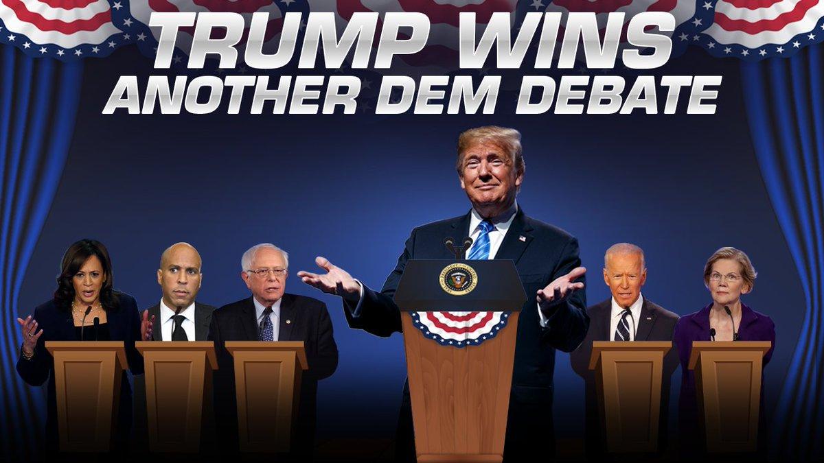 Trump wins another Dem debate! Coming up on #IngrahamAngle  @foxnews