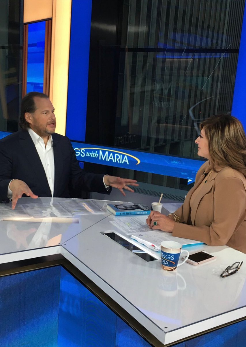 Big show tomorrow join us for @Benioff  @MorningsMaria  @FoxBusiness  6-9am et join us!