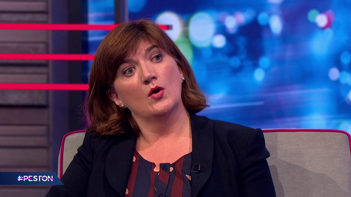 "When asked about level playing field concessions, @NickyMorgan01 says the government has always been very clear that the point of Brexit is ""not to water down standards"". #Peston"