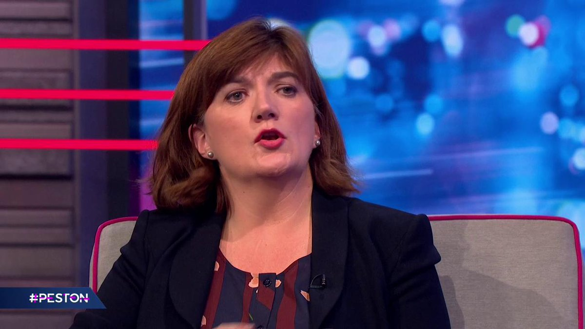 .@NickyMorgan01 says the public broadcast industry is competitive, and if the BBC license fee was scrapped and replaced with a subscription service it would be properly phased. #Peston