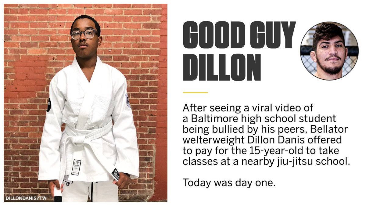 MMA fighter Dillon Danis took action when he saw a teenager being bullied 🥋   (via @dillondanis, h/t @espnmma)