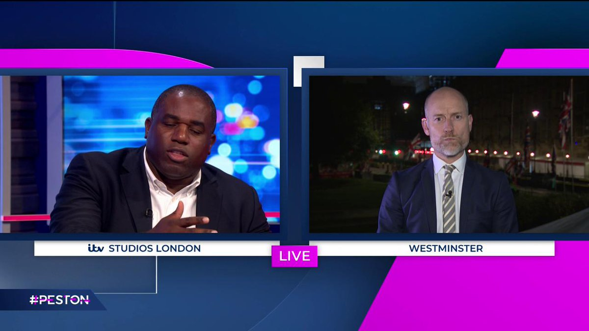 """.@DavidLammy says the legal text of any deal is hugely important, because """"it's clear you can't trust Boris Johnson."""" #Peston"""