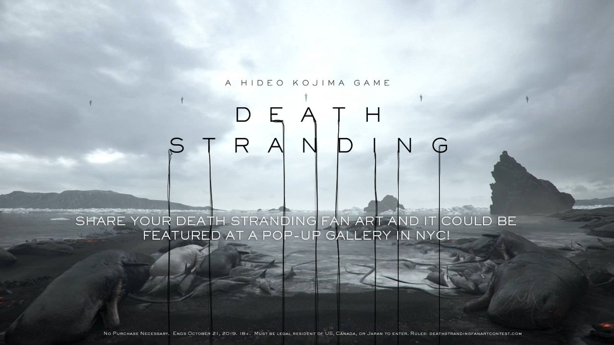 Enter your Death Stranding fan art for a chance to be featured in the exclusive launch-week pop-up gallery in NYC 🖐️ Rules: http://www.deathstrandingfanartcontest.com
