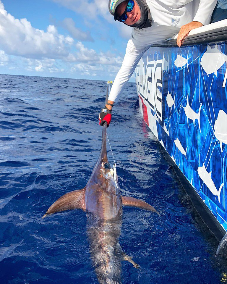 Islamorada, FL - Broad Minded went 2-2 on Swordfish. #IslamoradaFishing #Swordfish