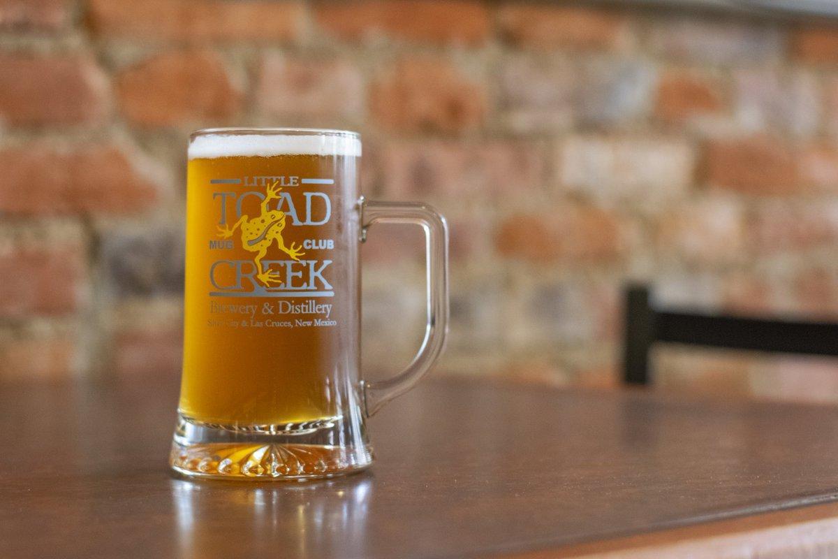 Lucky Toad Lager is pouring cold and refreshing! Come grab a pint (or a mug if you're a member).  #littletoadcreek #luckytoadlager #silvercitynm #nmcraftbeer #nmbrewersguild #nmbreweries https://t.co/ZP4fxK0nji
