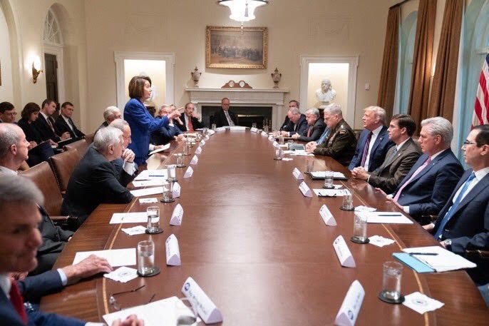 Can a woman beat Donald Trump? Yes. @SpeakerPelosi does it every day.