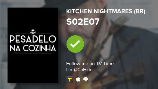 Acabei de ver S02E07 de Kitchen Nightmar...! #pesadelonacozinha  #tvtime https://t.co/VtwNqNalTZ https://t.co/F1oPyqxjez