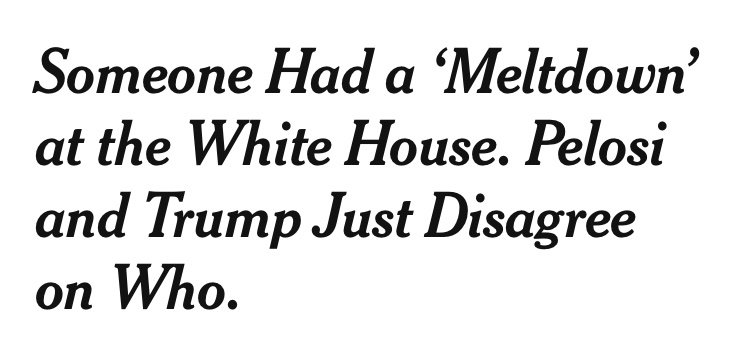 This is an inexcusable @nytimes headline. To soften and normalize Trump's behavior on this week of all weeks is something else.