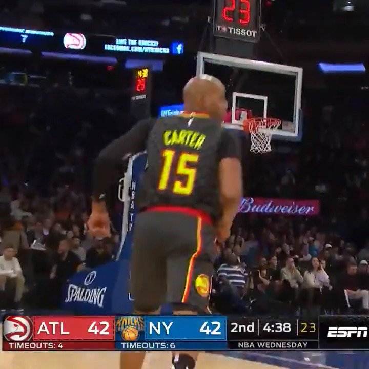 NBA: Vince Carter, 42, puts on a show vs. Knicks, leaves fans in awe