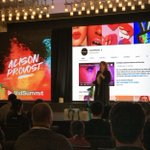 So much excitement on day 1 of #vidsummit2019! Take a look at our CEO @AlisonProvost on stage laying out how to use #BigData to #ConquerYouTube